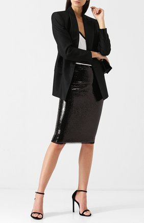 Женская юбка-карандаш с пайетками TOM FORD черного цвета, арт. GCJ226-FAE360 | Фото 2