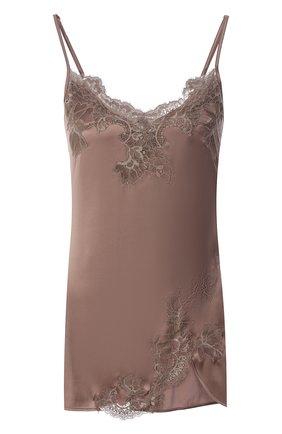 Женская шелковая сорочка COTTON CLUB коричневого цвета, арт. 3VB | Фото 1