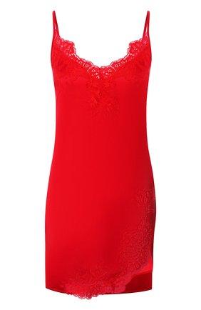 Женская шелковая сорочка COTTON CLUB красного цвета, арт. 3VB | Фото 1 (Материал внешний: Шелк; Длина Ж (юбки, платья, шорты): Мини; Рукава: Короткие)