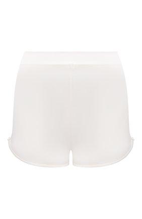 Женские шелковые шорты COTTON CLUB кремвого цвета, арт. 6ZM | Фото 1