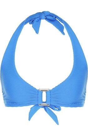 Однотонный бра с металлической вставкой Heidi Klein синий | Фото №1