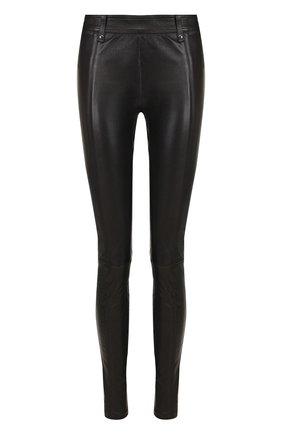 Укороченные кожаные брюки Tom Ford черные   Фото №1