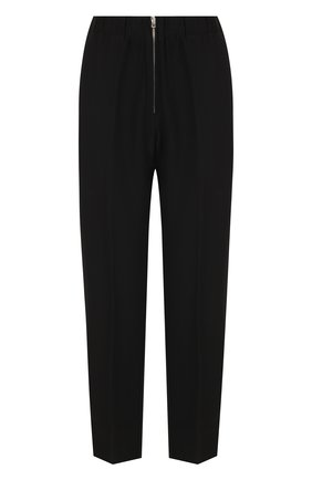 Укороченные брюки на молнии со стрелками Forte_forte черные   Фото №1