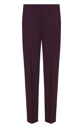 Однотонные укороченные брюки со стрелками Forte_forte фиолетовые   Фото №1