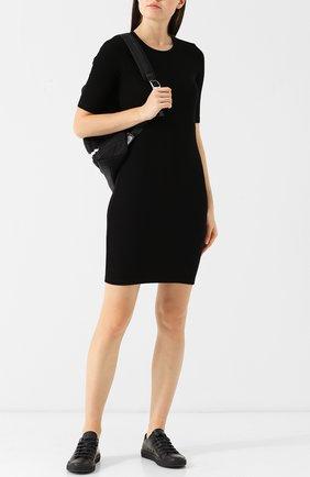 Приталенное мини-платье с открытой спиной T by Alexander Wang черное | Фото №1