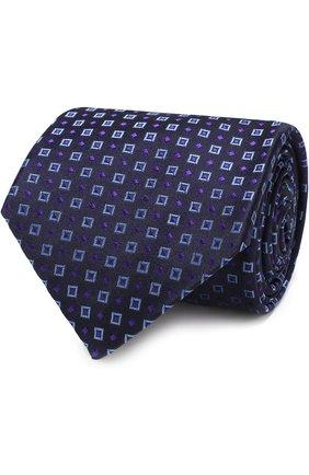 Мужской шелковый галстук с узором KITON фиолетового цвета, арт. UCRVKLC03F43 | Фото 1
