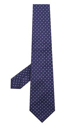 Мужской шелковый галстук с узором KITON фиолетового цвета, арт. UCRVKLC03F43 | Фото 2