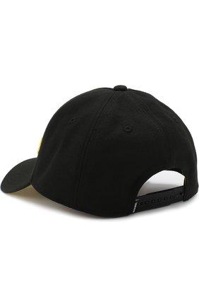 Бейсболка с логотипом бренда Diesel черного цвета   Фото №1