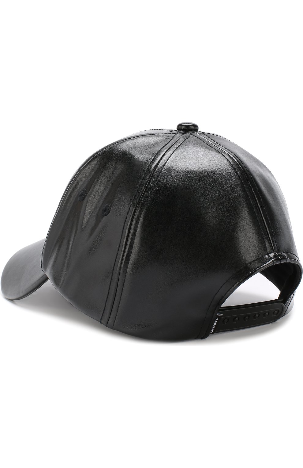 Однотонная бейсболка Diesel черного цвета   Фото №2
