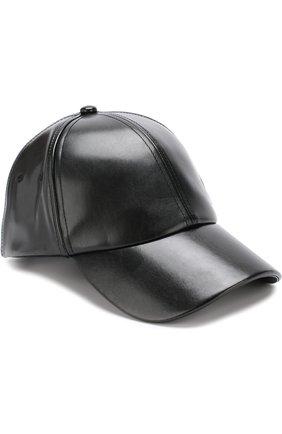 Однотонная бейсболка Diesel черного цвета   Фото №1