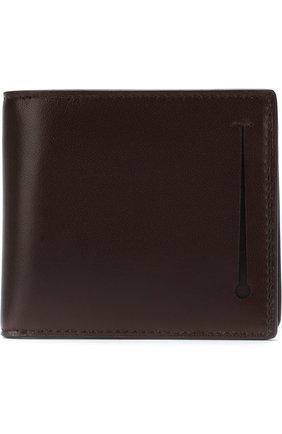 Мужской кожаное портмоне с отделениями для кредитных карт ERMENEGILDO ZEGNA темно-коричневого цвета, арт. E1258T-AFR | Фото 1