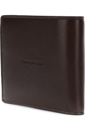 Мужской кожаное портмоне с отделениями для кредитных карт ERMENEGILDO ZEGNA темно-коричневого цвета, арт. E1258T-AFR | Фото 2