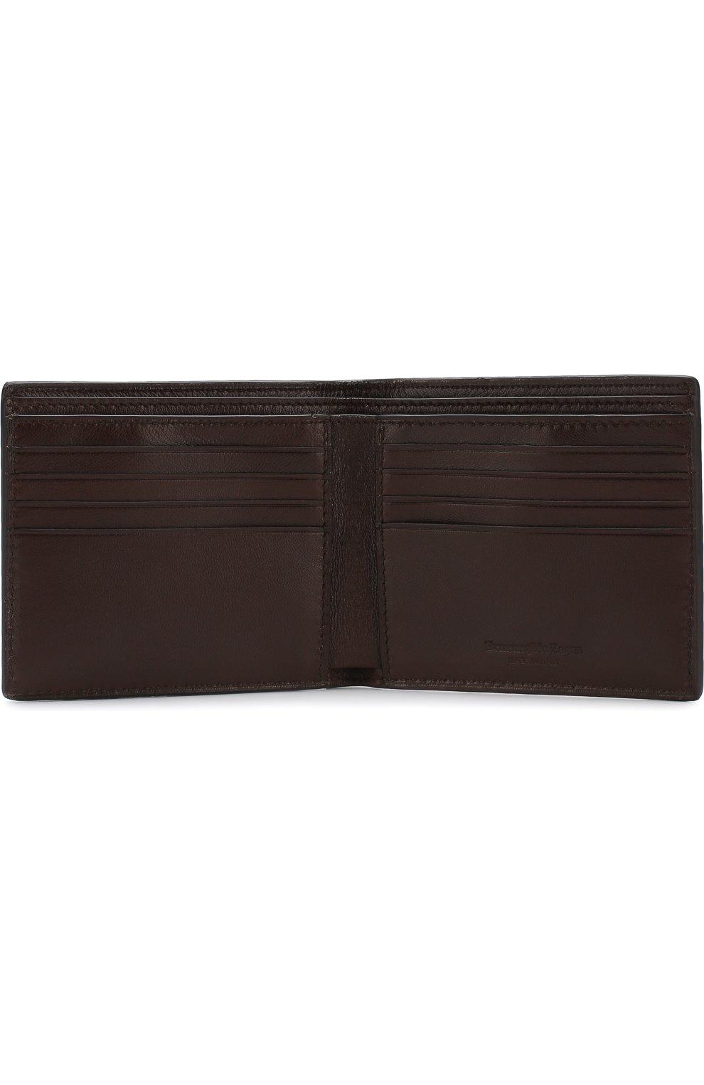 Мужской кожаное портмоне с отделениями для кредитных карт ERMENEGILDO ZEGNA темно-коричневого цвета, арт. E1258T-AFR | Фото 3