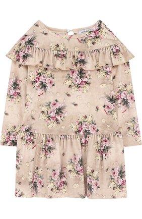 Платье с принтом и оборками | Фото №1