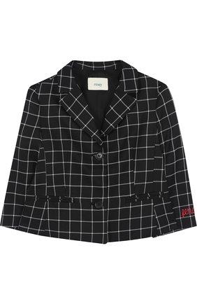 Пиджак из вискозы и шерсти на двух пуговицах | Фото №1