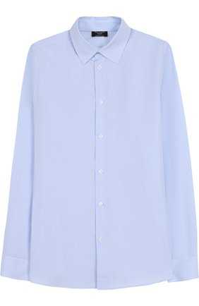 Детская хлопковая рубашка с воротником кент DAL LAGO голубого цвета, арт. N402/7628/XS-L | Фото 1