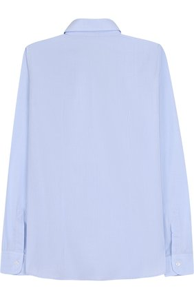 Детская хлопковая рубашка с воротником кент DAL LAGO голубого цвета, арт. N402/7628/XS-L | Фото 2