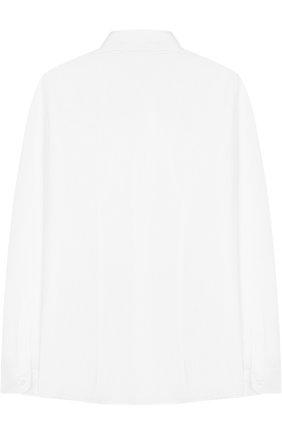 Детская хлопковая рубашка с воротником кент DAL LAGO белого цвета, арт. N402/7815/7-12 | Фото 2