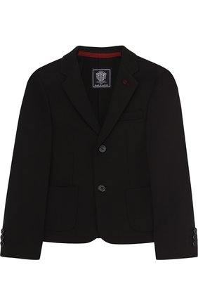 Пиджак джерси на двух пуговицах с декором | Фото №1