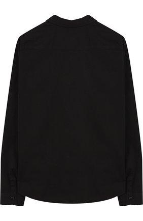 Хлопковая блуза прямого кроя с декоративными пуговицами | Фото №2