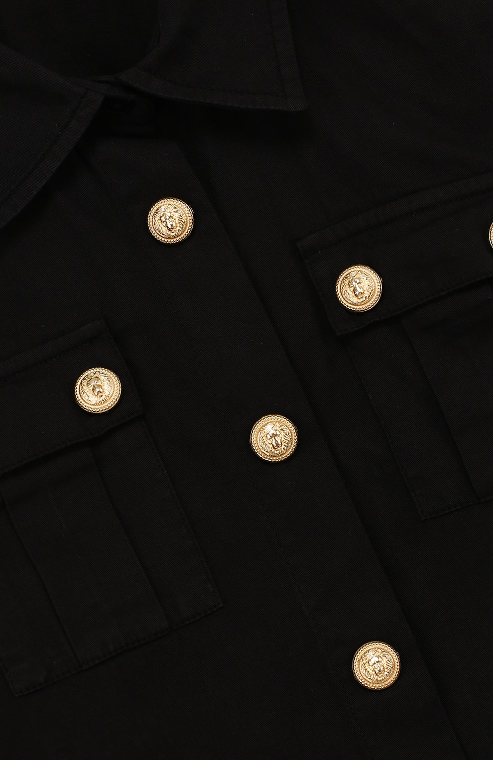 Хлопковая блуза прямого кроя с декоративными пуговицами | Фото №3