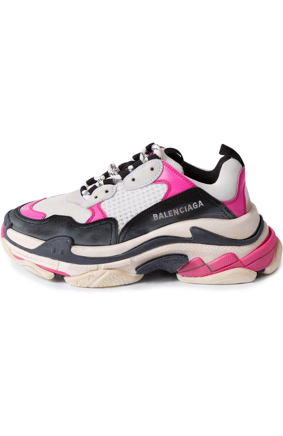 Комбинированные кроссовки Triple S | Фото №3