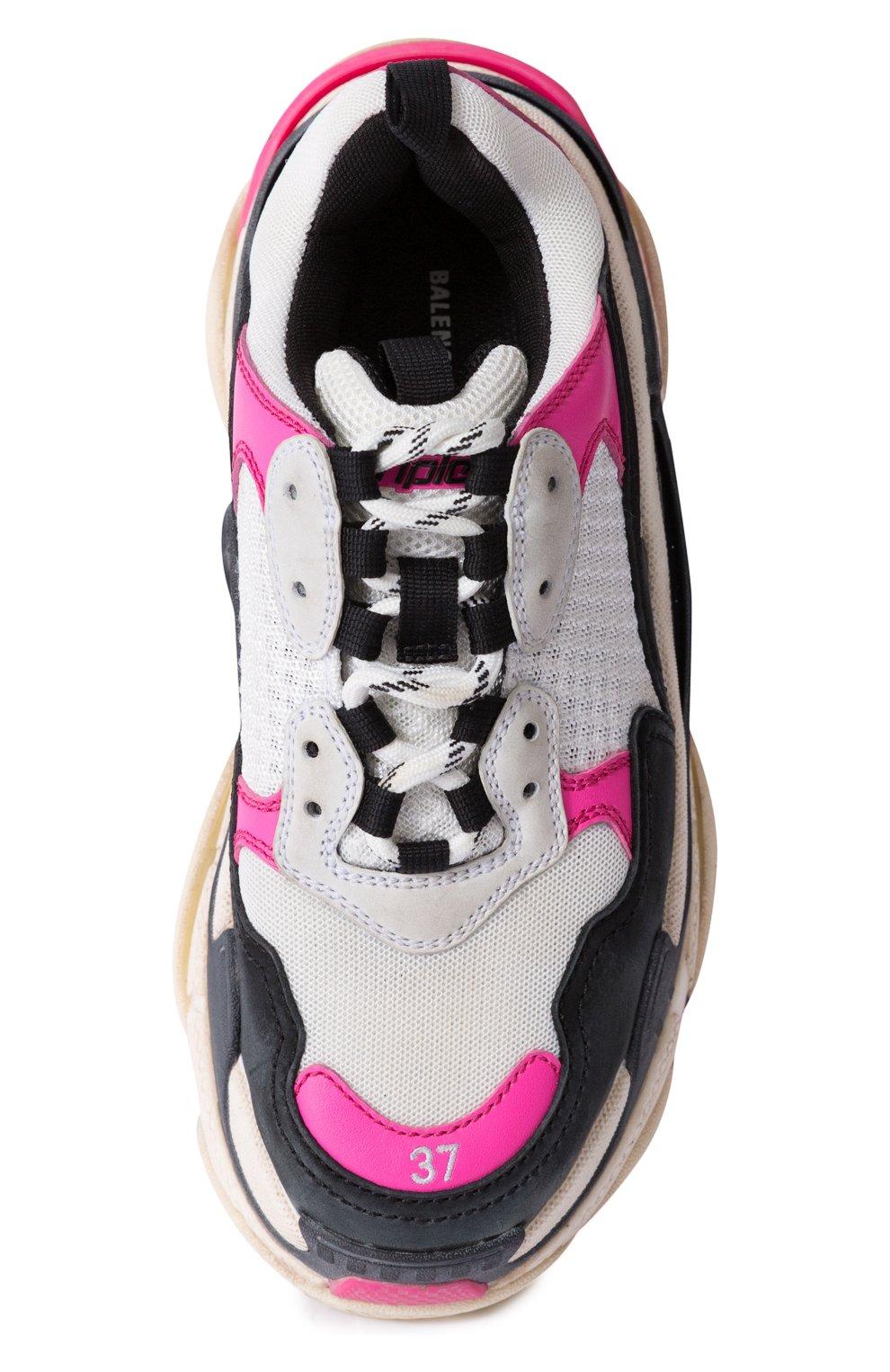 Комбинированные кроссовки Triple S | Фото №5