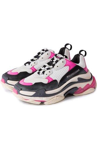 Комбинированные кроссовки Triple S