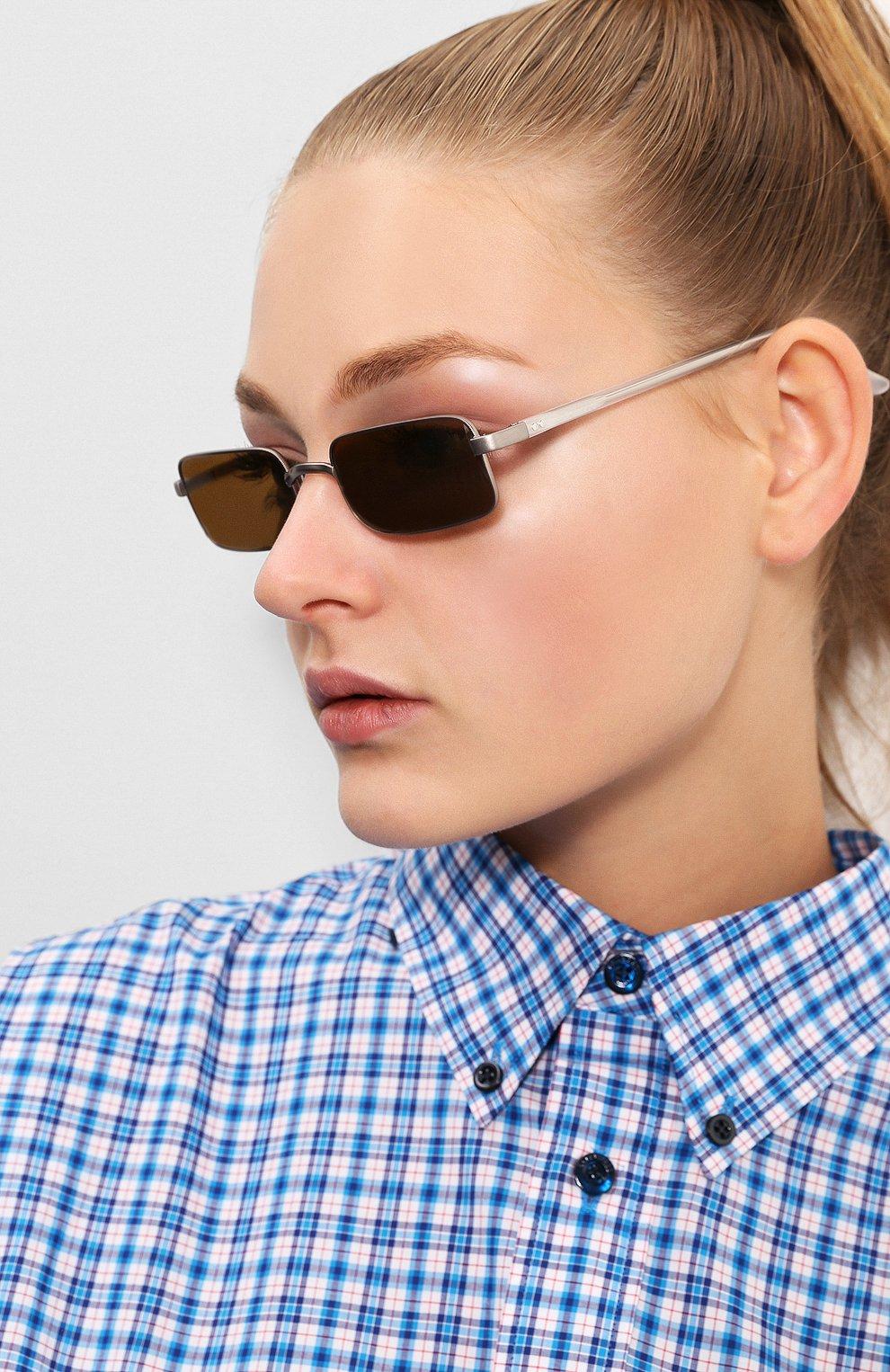 Солнцезащитные очки Dries Van Noten оливковые | Фото №2
