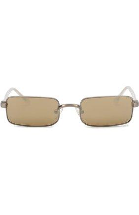 Солнцезащитные очки Dries Van Noten оливковые | Фото №3