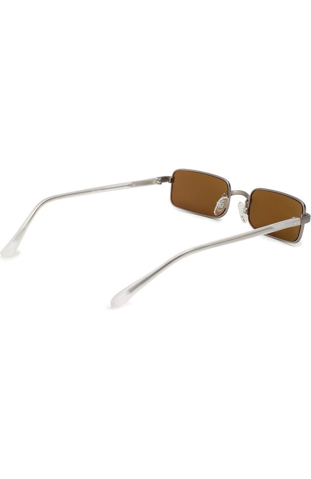 Солнцезащитные очки Dries Van Noten оливковые | Фото №4