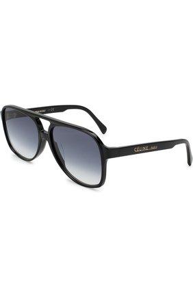 Женские солнцезащитные очки CELINE EYEWEAR черного цвета, арт. CL40032U 01B | Фото 1