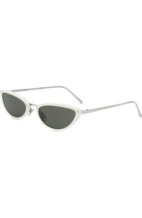 Солнцезащитные очки Linda Farrow белые | Фото №1