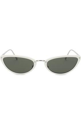 Солнцезащитные очки Linda Farrow белые | Фото №3