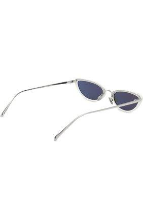 Солнцезащитные очки Linda Farrow белые | Фото №4