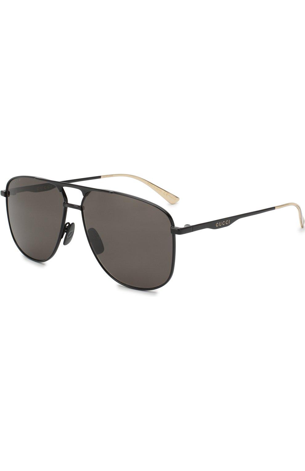 Мужские солнцезащитные очки GUCCI черного цвета, арт. GG0336 005   Фото 1