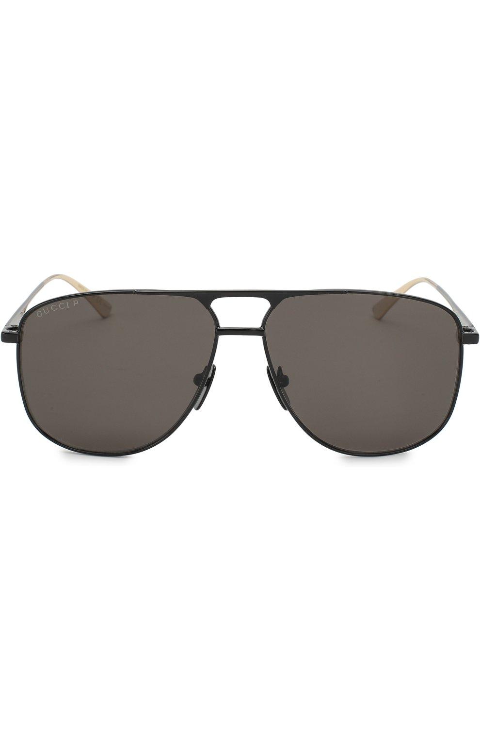 Мужские солнцезащитные очки GUCCI черного цвета, арт. GG0336 005   Фото 2