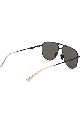 Мужские солнцезащитные очки GUCCI черного цвета, арт. GG0336 005   Фото 3