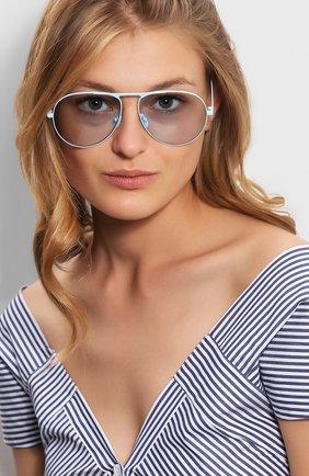 Женские солнцезащитные очки GUCCI голубого цвета, арт. GG0334 006 | Фото 2