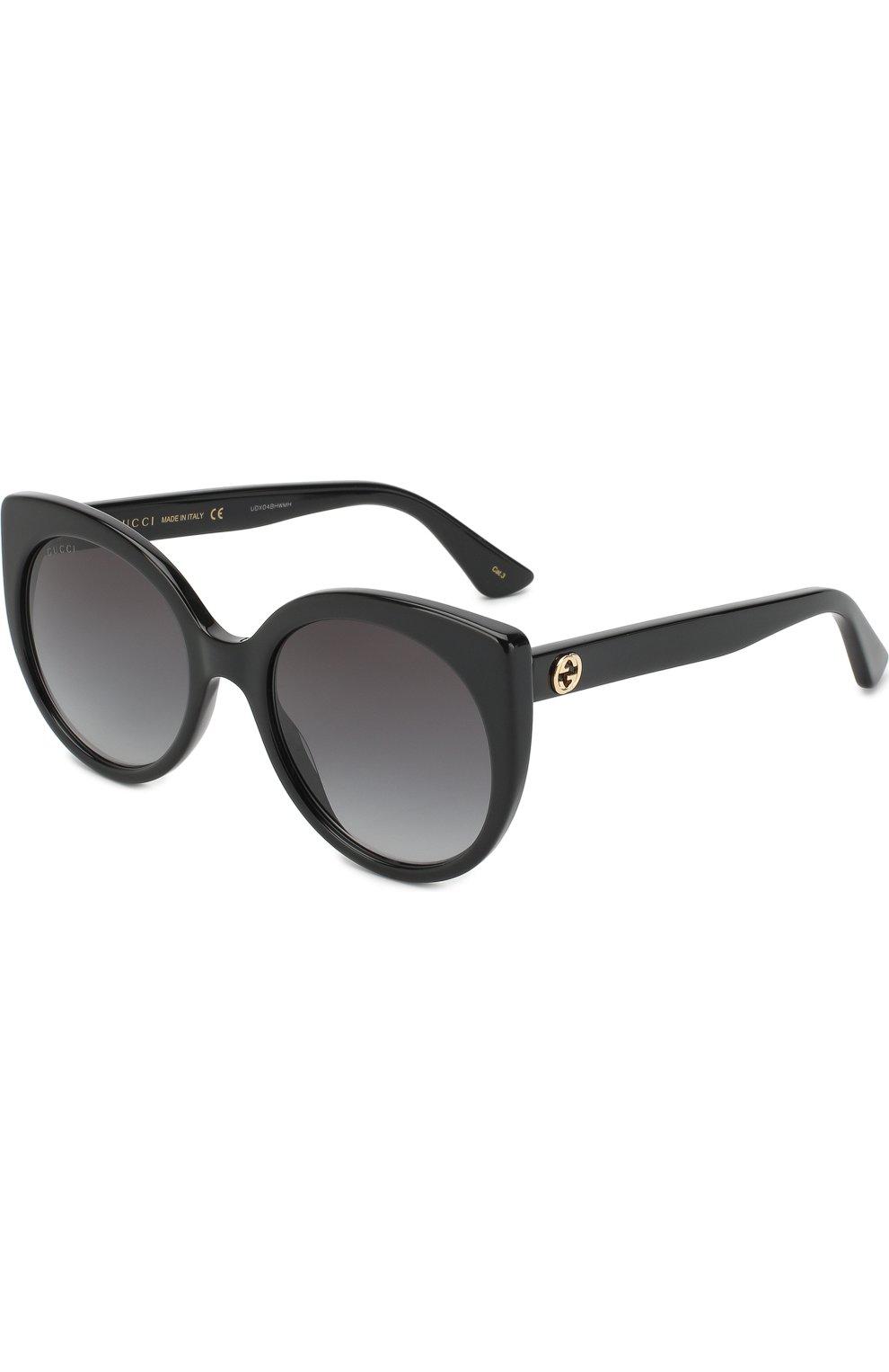 Женские солнцезащитные очки GUCCI черного цвета, арт. GG0325 001   Фото 1