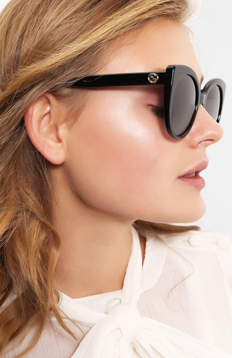 Женские солнцезащитные очки GUCCI черного цвета, арт. GG0325 001   Фото 2
