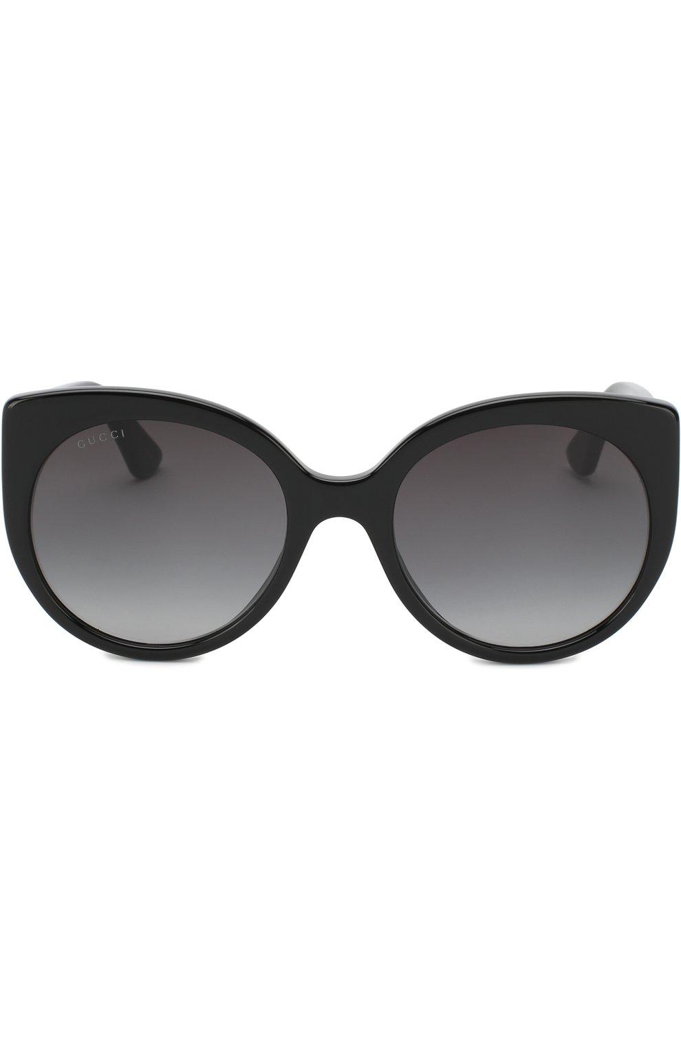 Женские солнцезащитные очки GUCCI черного цвета, арт. GG0325 001   Фото 3