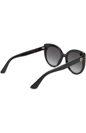 Женские солнцезащитные очки GUCCI черного цвета, арт. GG0325 001   Фото 4