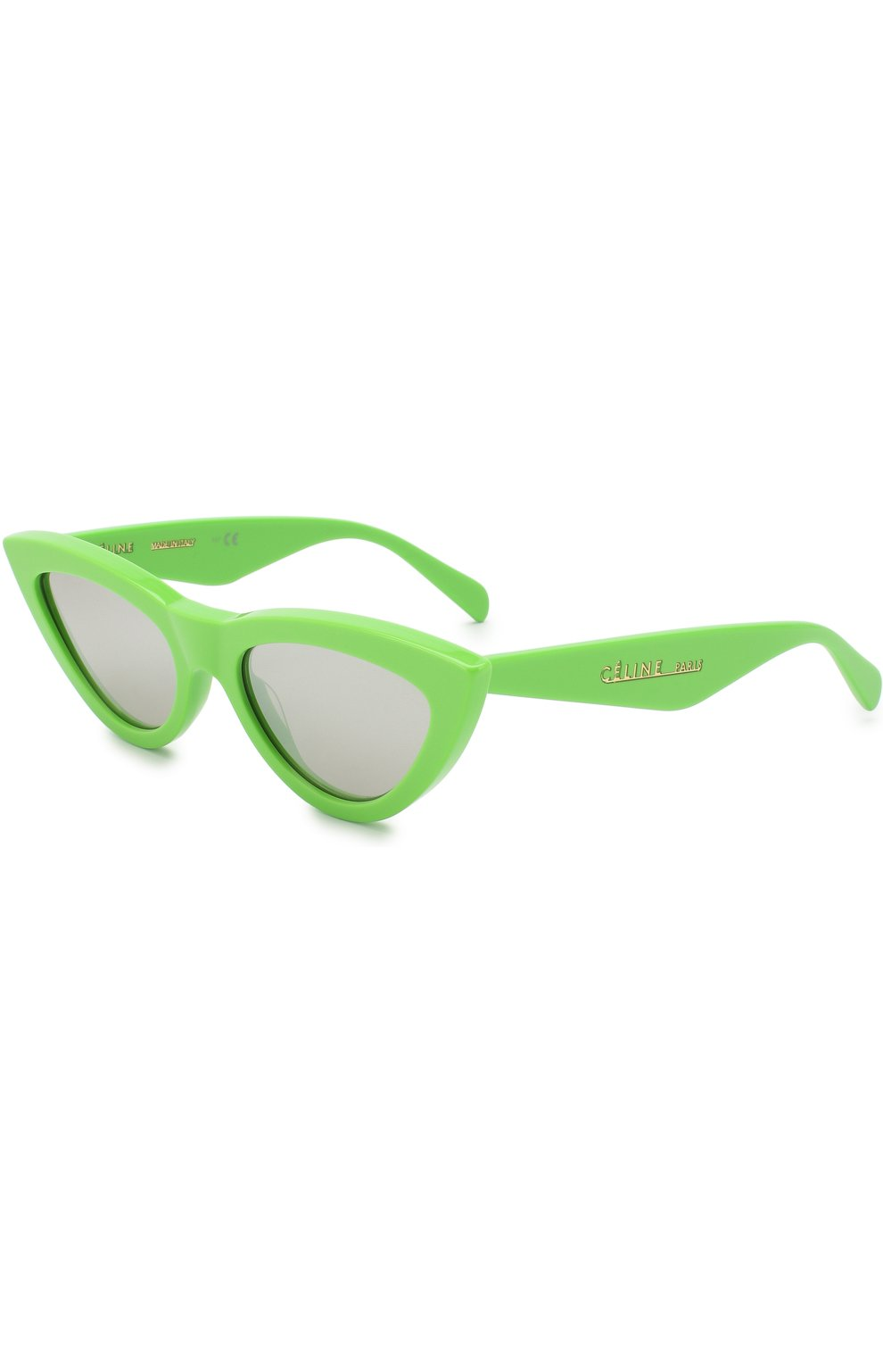 Женские солнцезащитные очки CELINE EYEWEAR зеленого цвета, арт. CL40019I 95C   Фото 1
