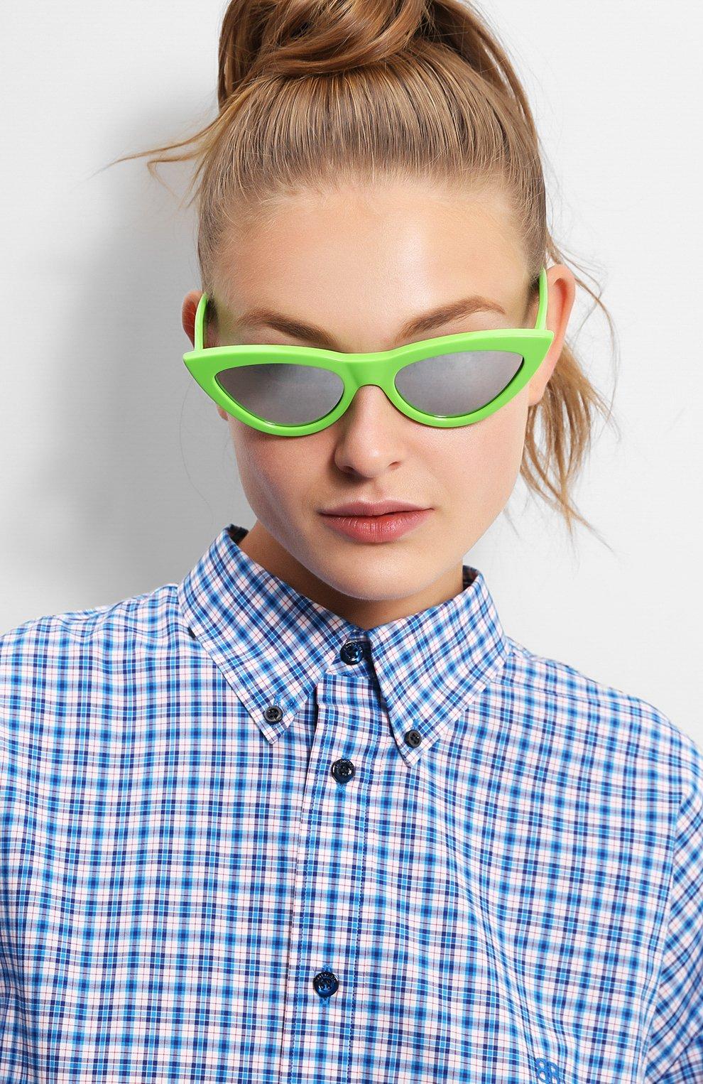 Женские солнцезащитные очки CELINE EYEWEAR зеленого цвета, арт. CL40019I 95C   Фото 2