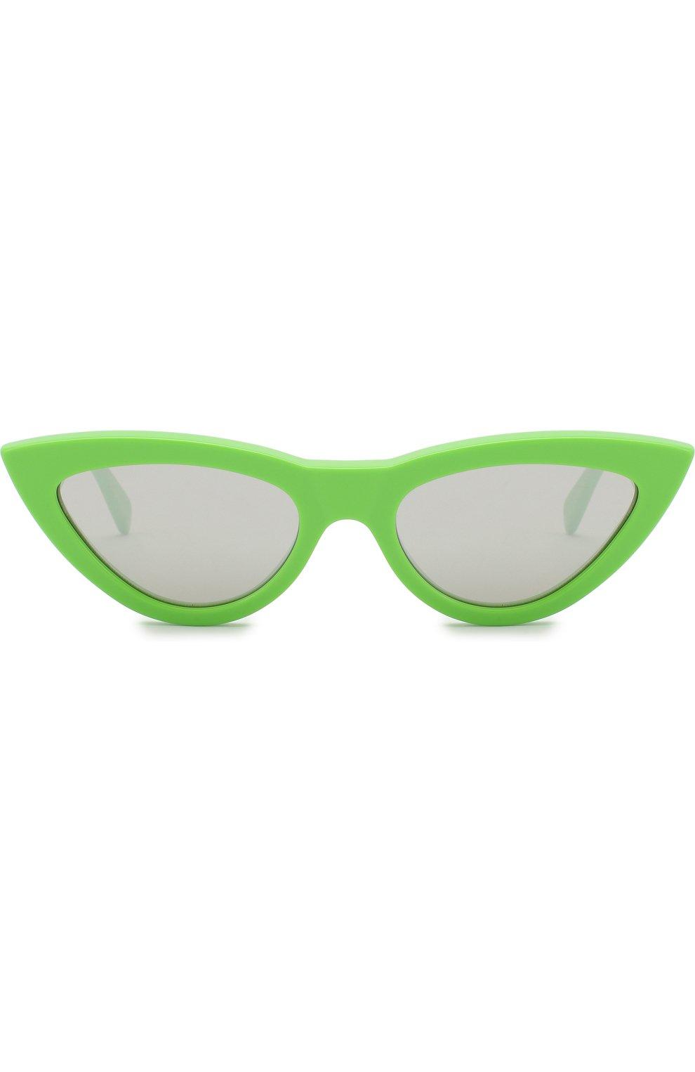 Женские солнцезащитные очки CELINE EYEWEAR зеленого цвета, арт. CL40019I 95C   Фото 3