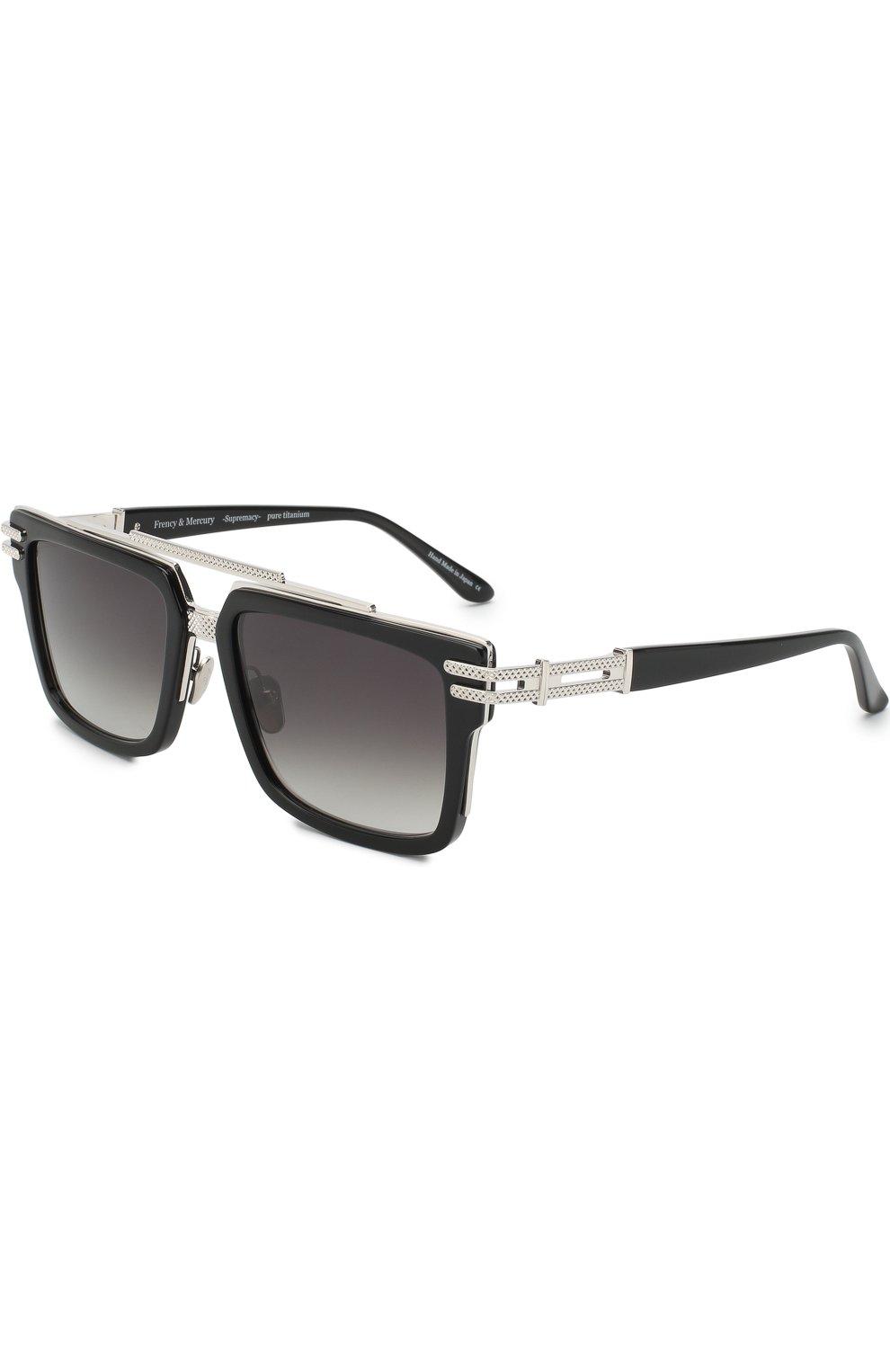 Мужские солнцезащитные очки FRENCY&MERCURY черного цвета, арт. N0RMANDY/ABS SUN | Фото 1 (Тип очков: С/з; Очки форма: Прямоугольные; Оптика Гендер: оптика-мужское)