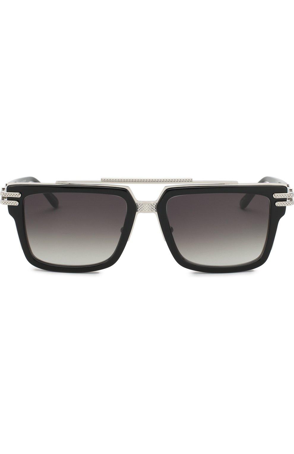 Мужские солнцезащитные очки FRENCY&MERCURY черного цвета, арт. N0RMANDY/ABS SUN | Фото 2 (Тип очков: С/з; Очки форма: Прямоугольные; Оптика Гендер: оптика-мужское)