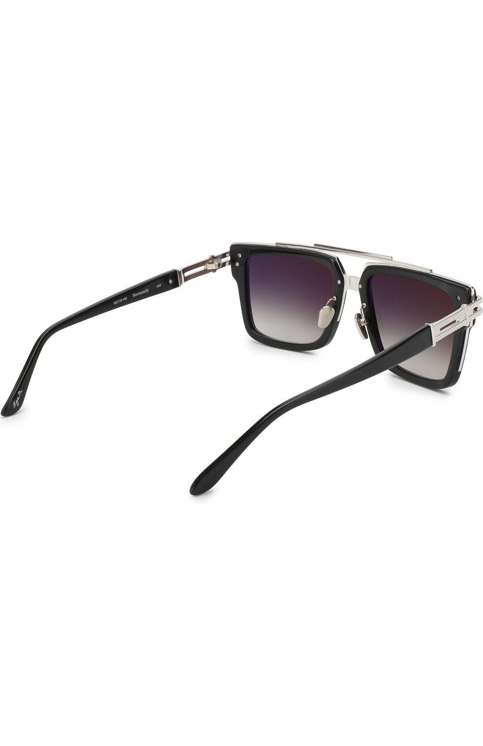 Мужские солнцезащитные очки FRENCY&MERCURY черного цвета, арт. N0RMANDY/ABS SUN | Фото 3 (Тип очков: С/з; Очки форма: Прямоугольные; Оптика Гендер: оптика-мужское)