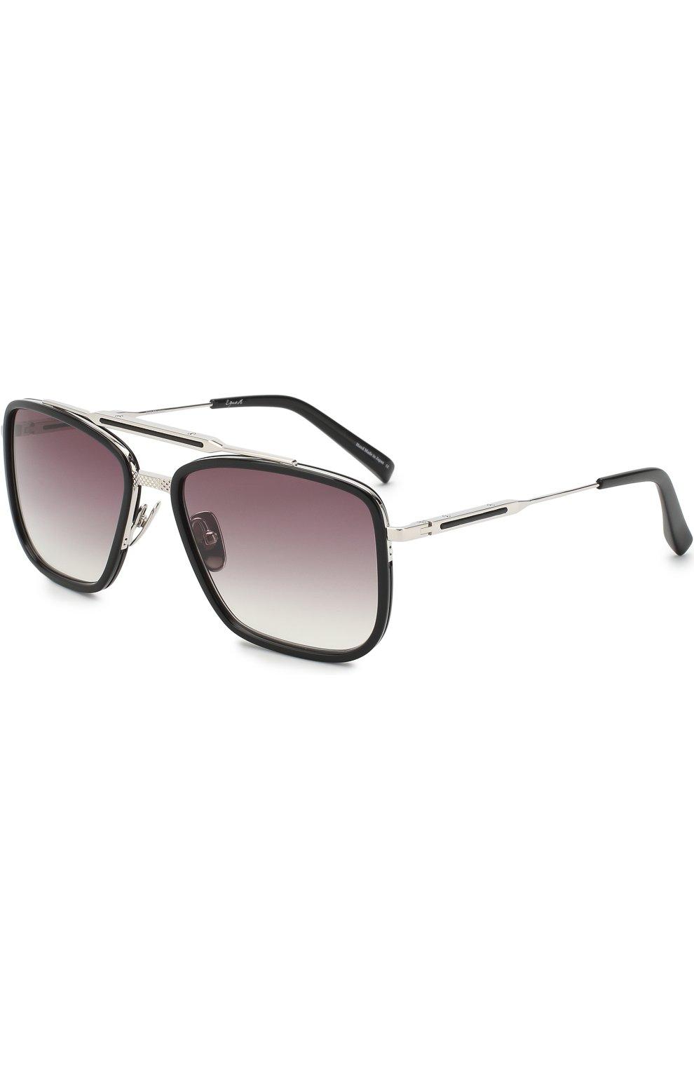 Мужские солнцезащитные очки FRENCY&MERCURY черного цвета, арт. THE VANTAGE/ABS SUN | Фото 1 (Тип очков: С/з; Очки форма: Прямоугольные; Оптика Гендер: оптика-мужское)